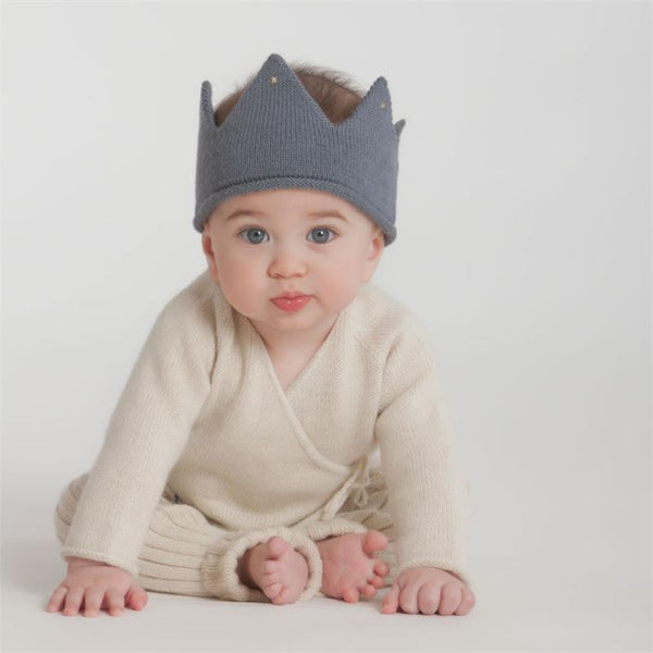Cashmere Wool Blend Knit Crown - Multiple Colors Available