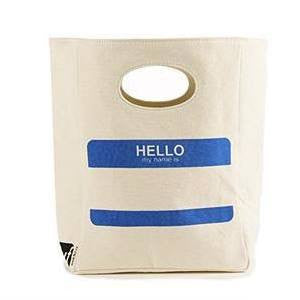 FLUF Organic Lunch Bag HELLO