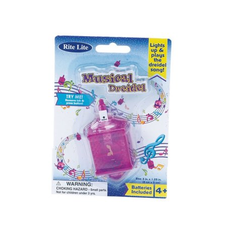 LIGHT UP MUSICAL DREIDEL TOY CHANUKAH HANUKAH JEWISH TOY