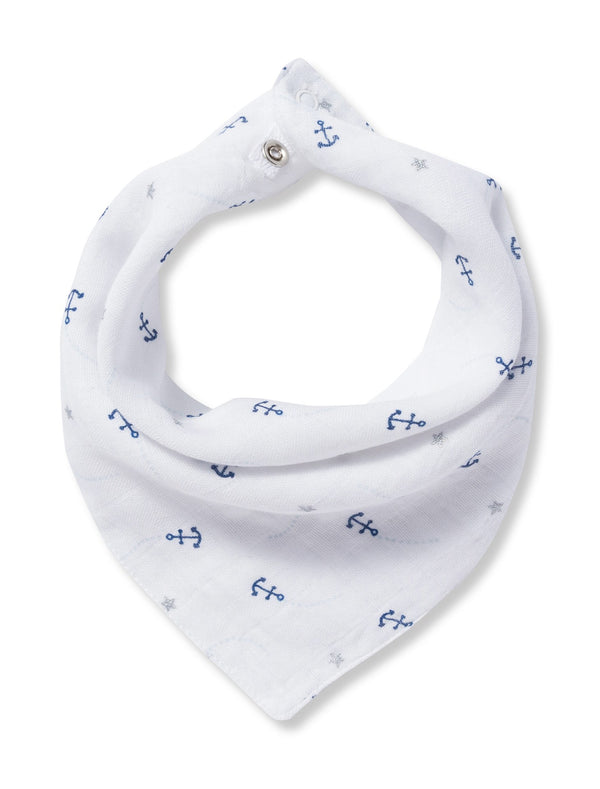 Angel Dear Muslin Anchor Print Bandana Bib