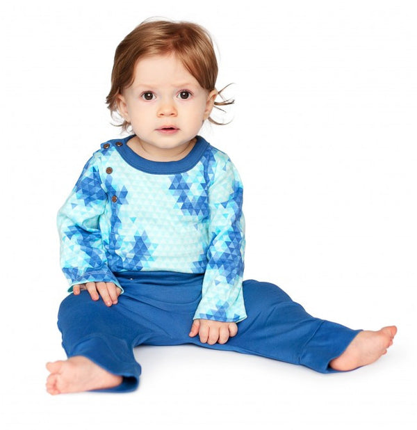 Finn + Emma Organic Blue Anchor Bodysuit
