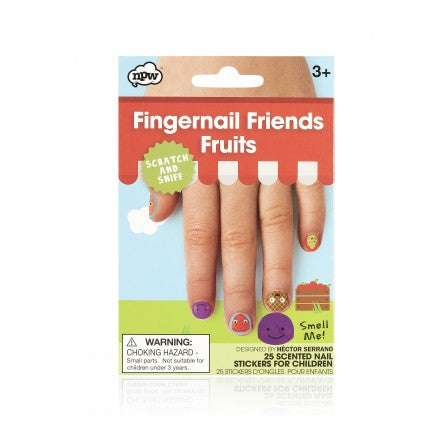 NPW Fingernail Friends Fruits Nail Art - Scratch & Sniff
