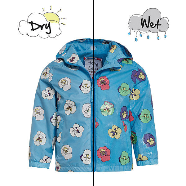 Holly + Beau Color Changing Raincoat Pansy