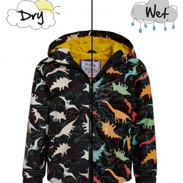 Holly + Beau Color Changing Raincoat Dinosaur