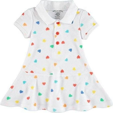 Queen of Hearts Multi Color Heart Print Polo Dress & Bloomer Set