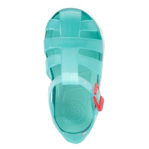 e25eab92777d ... Turquoise Igor Jelly Sandals Jellies with Pink Buckle- Made in Spain ...