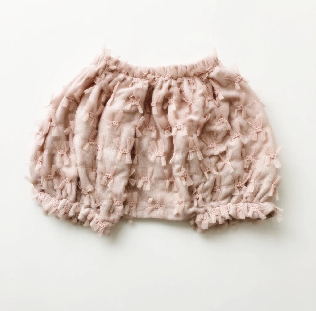 Cecelia Balloon Bloomer Soft Pink With Tassels