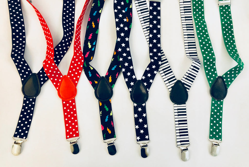Suspenders- Multiple Colors Available
