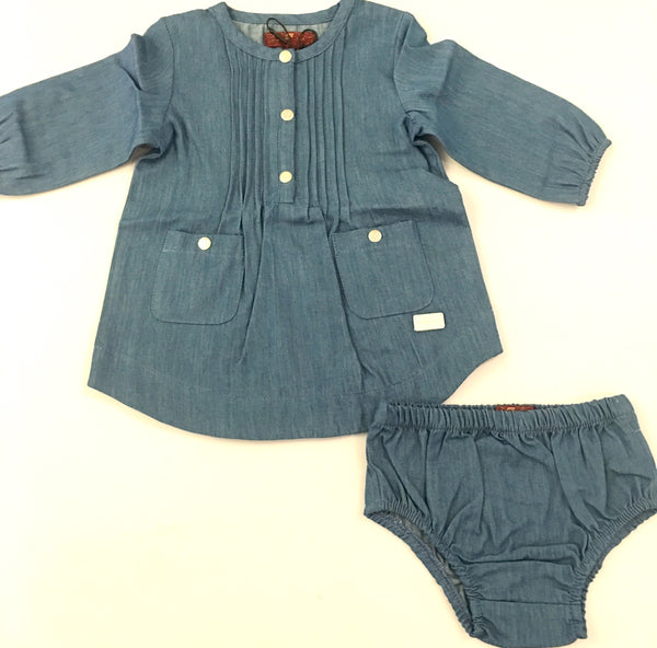 Seven for all Mankind Denim Dress with Matching Bloomer