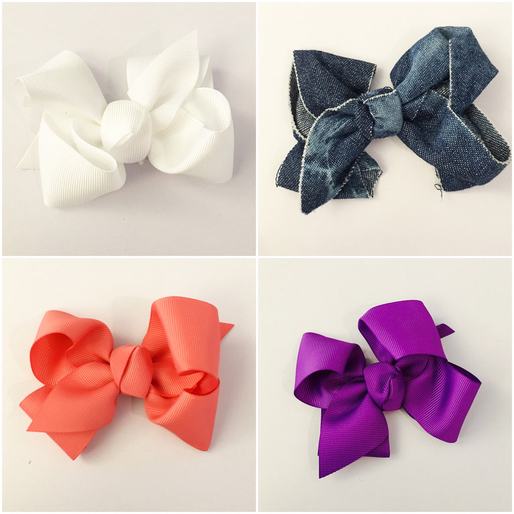 Medium Hair Bow- Multiple Colors Available