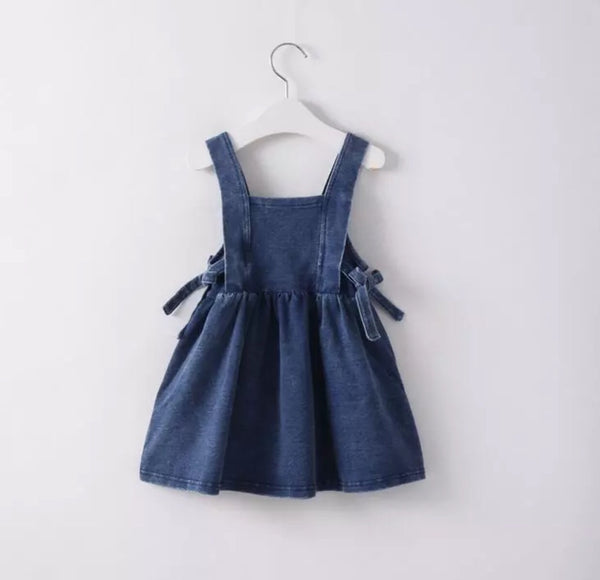 Faux Denim Harlow Dress with Side Ties