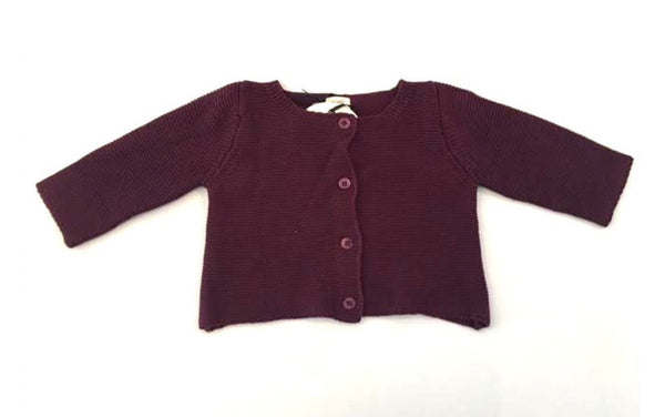 Aioty NYC Maroon Hand Knit Sweater
