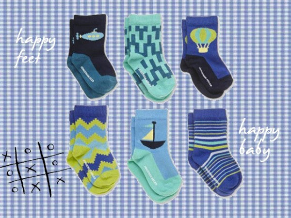 Jonathan Adler Happy Socks Infant Gift Box Set - Aztec Blue