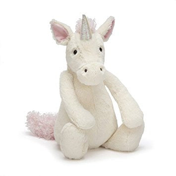 jellycat bashful unicorn small lovey lovie stuffed animal newborn baby gift soft plush
