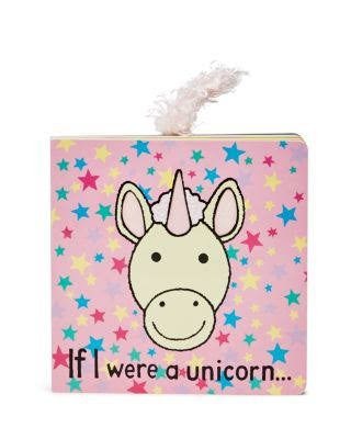 jellycat if i were a unicorn lovey lovie board book with tail