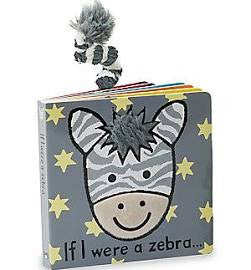 if i were a zebra jellycat board book lovey lovie with tail