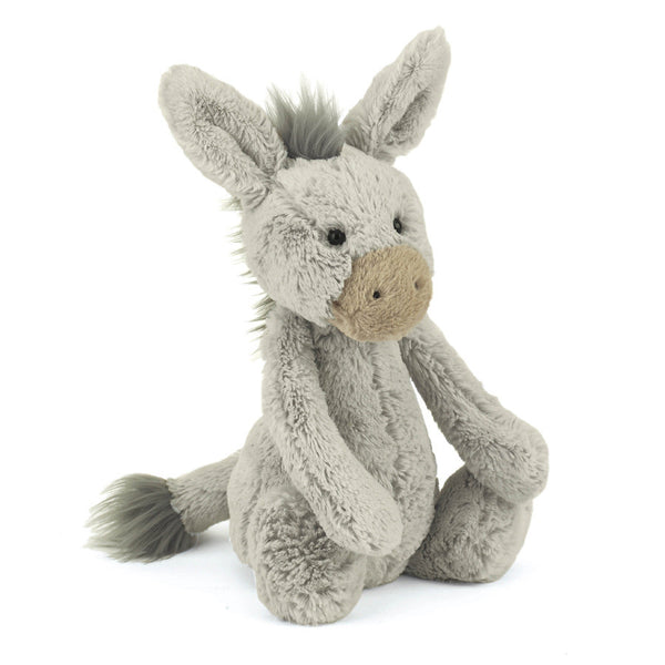 jellycat donkey medium bashful stuffed animal lovey baby gift