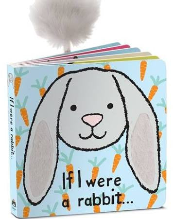 jellycat if i were a bunny board book lovey lovie with tail rabbit