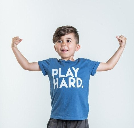 Joah Love Drew Play Hard Printed Crew Tee Tshirt