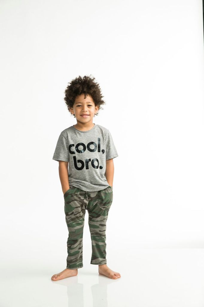 Joah Love Cruz Cool Bro Printed Tee in Grey