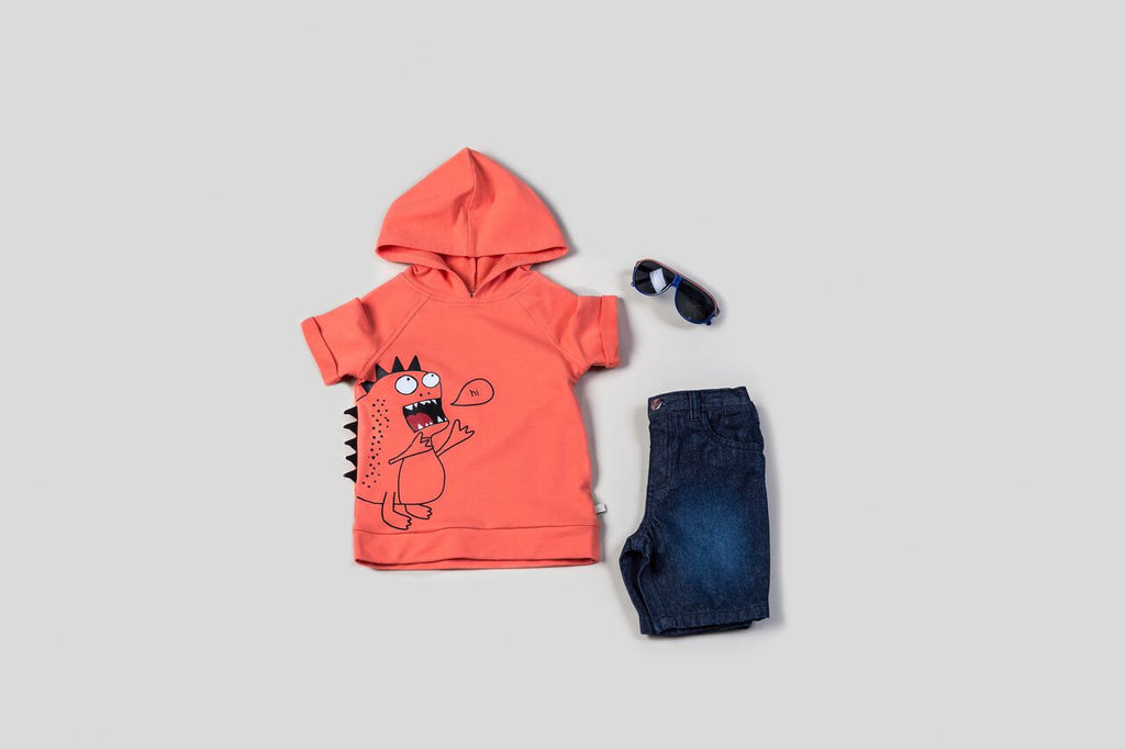 Monster Hooded Shirt & Shorts Set