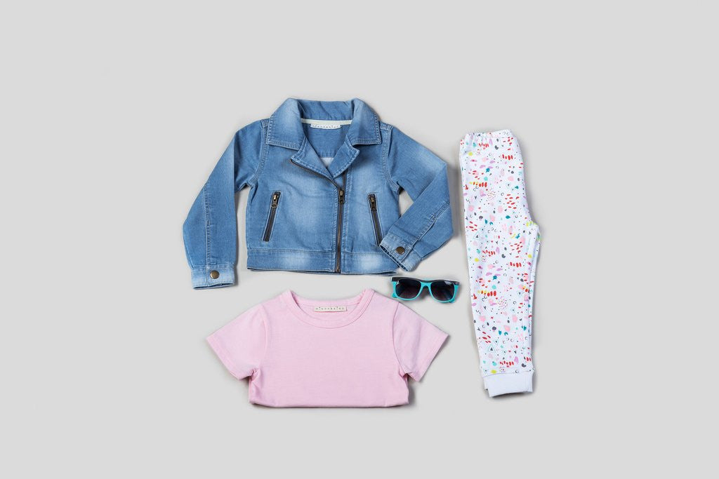 KinderKind Kids Denim Moto 3 Piece Set
