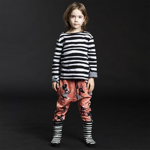 Koolabah- Black & White Striped Wellies Rain Boots