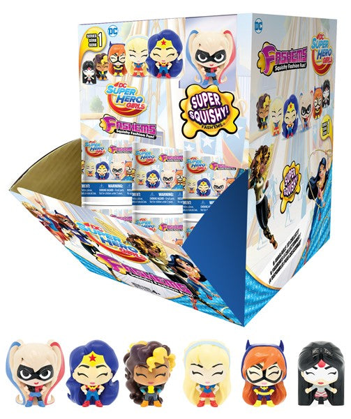 fashems mashems mystery toy tube dc super hero girls toys toy gift stocking stuffer