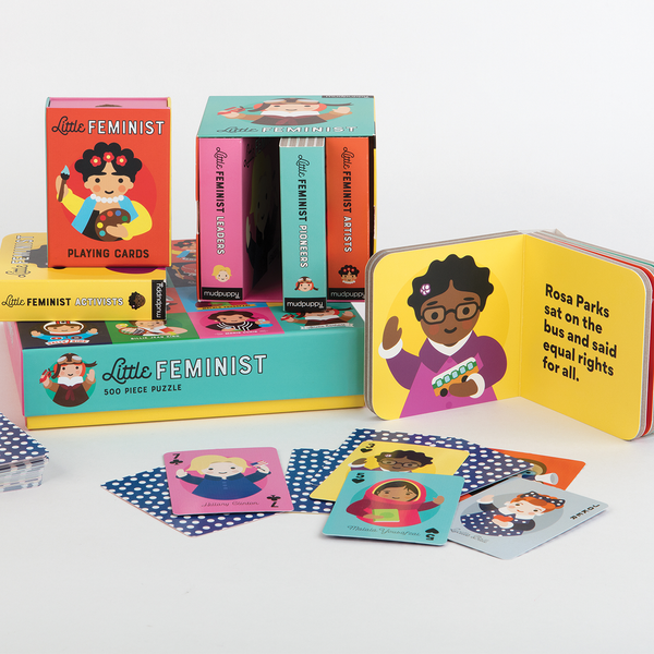 Little Feminist Book Set Mudpuppy Rosa Parks Amelia Earhart Hillary Clinton Girl power