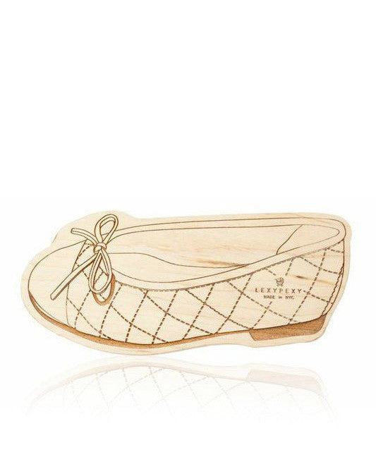 LexyPexy Eco Chic Wooden Teether- Wren Chanel Ballet Flat