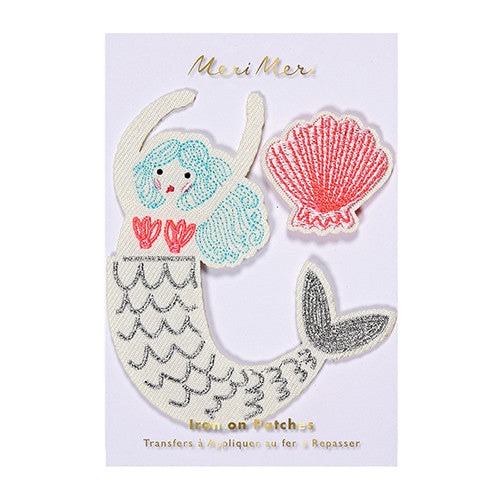 meri meri embroidered mermaid brooches patches pins cool kids
