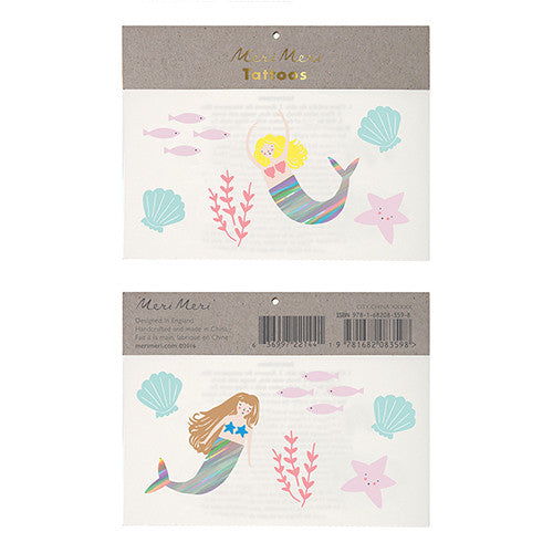 meri meri mermaid temporary tattoos cool kid style