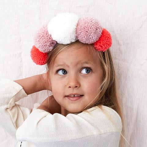 MERI MERI POM POM CROWN HIPSTER MAMA WOMENS KIDS GIRLS