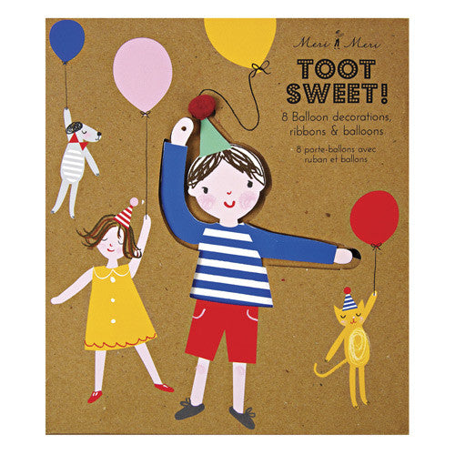 Meri Meri Toot Sweet Children Balloon Holders Decor