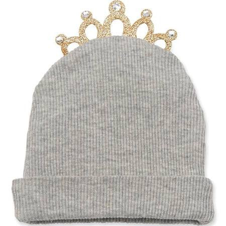 Mud Pie Tiara Newborn Hat Grey