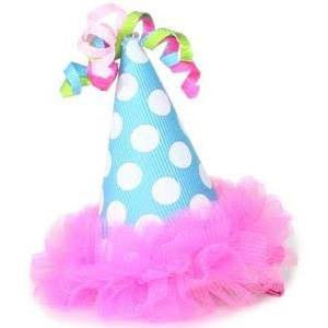 Mud Pie Chiffon Party Hat Clip
