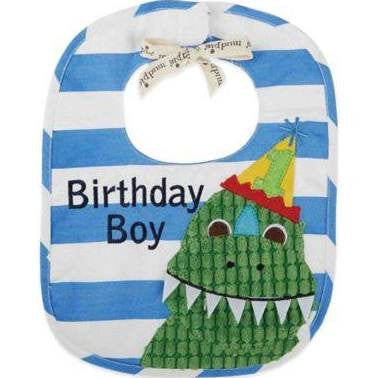 Mud Pie Birthday Boy Dino Bib
