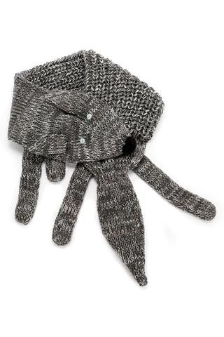 Peppercorn Kids Fox Scarf - Marled Grey