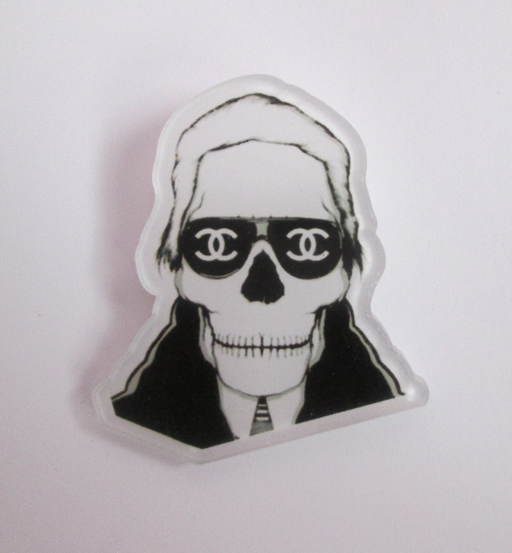 Karl Lagerfeld CC Skeleton Pin