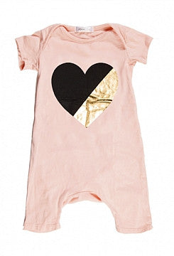 Joah Love Metallic Heart Playsuit with EZ Access Back