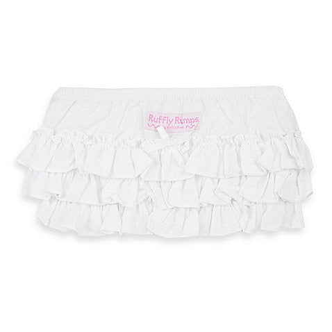 Ruffly Rumps White Ruffle Diaper Cover