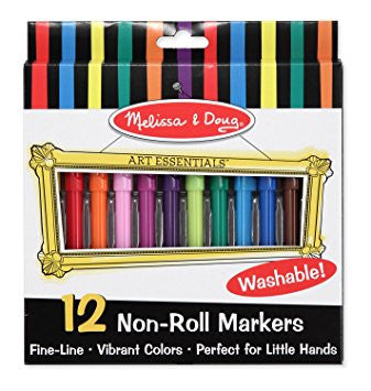 Melissa & Doug Non Roll Markers Set