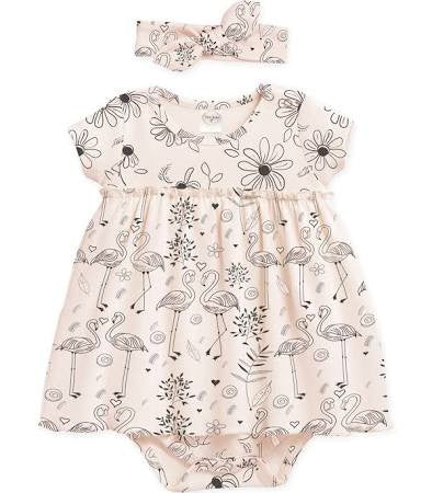 Daises Skirted Bodysuit with Matching Headband