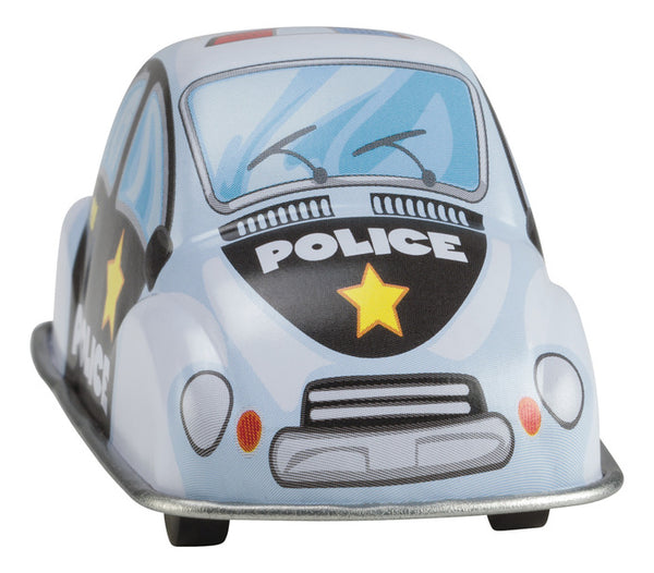 Toysmith Fast Action Pull Back Tin Police Car