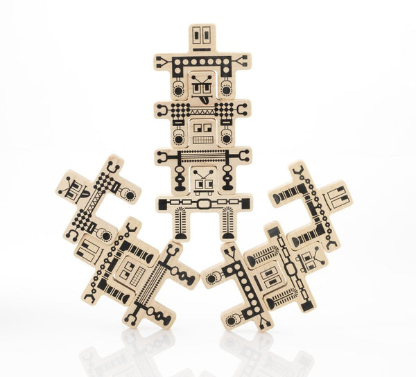 Tree Hopper Toys - Whoa Bots Wooden Stacking Robots