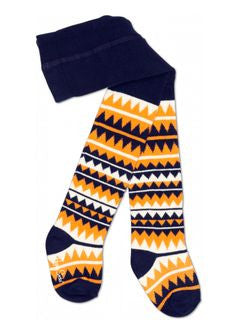 SALE Happy Socks Blue Orange White (Go Bears!) Knit Tights