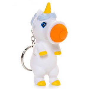 unicorn popper keychain big mouth toys hog wild