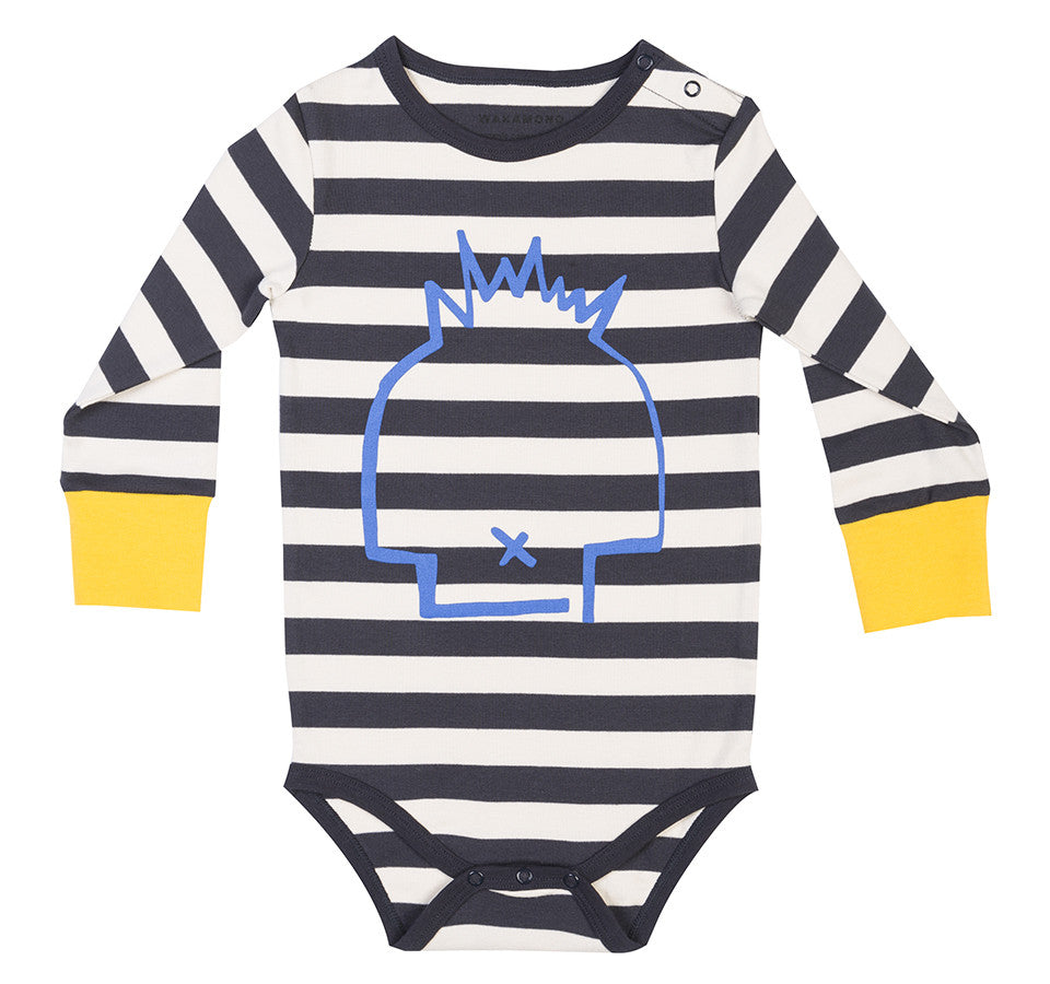 Wakamono Organic Leah Striped Bodysuit