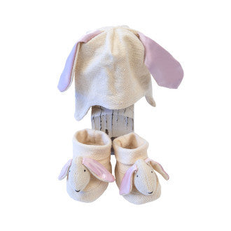 Empress Arts Bunny Newborn Hat & Bootie Set