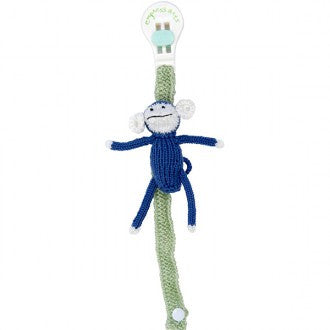 Empress Arts Knit Pacifier Holder Lovie Monkey